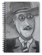 James Joyce Spiral Notebook