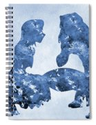 Jane And Tarzan-blue Spiral Notebook