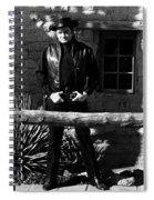 Johnny Cash Gunfighter Hitching Post Old Tucson Arizona 1971 Spiral Notebook