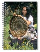 Kashia Pomo Woman Weaving Spiral Notebook