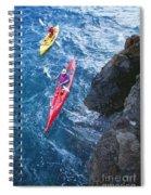 Kayaking Along Coastline Spiral Notebook