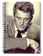 Kirk Douglas, Vintage Actor Spiral Notebook