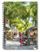 Koh Rong Island Main Village Bars In Cambodia Spiral Notebook
