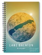 Lake Balaton 3d Little Planet 360-degree Sphere Panorama Spiral Notebook