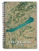 Lake Balaton 3d Render Satellite View Topographic Map Spiral Notebook