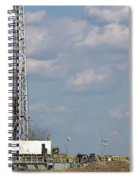 Land Oil Drilling Rig On Oilfield Spiral Notebook