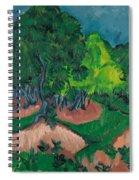 Landscape With Chestnut Tree Spiral Notebook