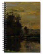 Landscape With Ducks Spiral Notebook