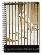 Lion Cage, Carnivore House, Philadelphia Zoo, C. 1900 Spiral Notebook
