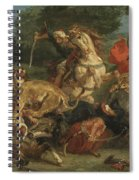 Lion Hunt Spiral Notebook