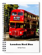 London Red Bus. Spiral Notebook
