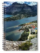 Looking Down On Waterton Lakes Spiral Notebook