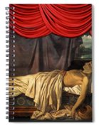 Lord Byron On His Death Spiral Notebook