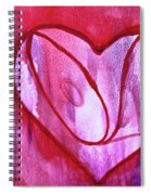 Love Heart Spiral Notebook