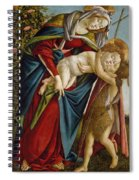 Madonna And Child And The Young St John The Baptist Spiral Notebook