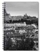 Madrid Panorama From Debod Lookout Madrid Spain Spiral Notebook