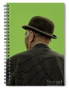 Man With A Bowler Hat Spiral Notebook