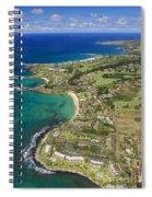 Maui Aerial Of Kapalua Spiral Notebook