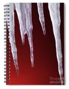 Melting Icicles Spiral Notebook