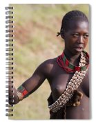 member of the Bena Tribe, Omo Valley Spiral Notebook