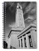 Memorial Tower - Lsu Bw Spiral Notebook