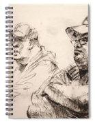 Men At Cafe Spiral Notebook
