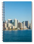 Miami Florida City Skyline Morning With Blue Sky Spiral Notebook