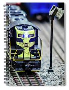 Miniature Toy Model Train Locomotives On Display Spiral Notebook
