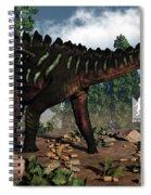 Miragaia Dinosaur - 3d Render Spiral Notebook