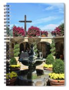Mission Inn Chapel Courtyard Spiral Notebook