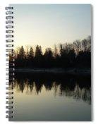 Mississippi River Sunrise Reflection Spiral Notebook