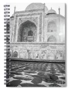 Monochrome Taj Mahal - Sunrise Spiral Notebook