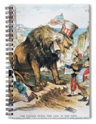 Monroe Doctrine: Cartoon Spiral Notebook