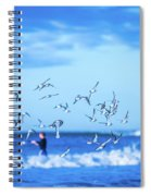 Morning Sunrise Over Ocean Waters Spiral Notebook