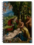 Mythological Scene Spiral Notebook