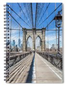 New York City Brooklyn Bridge Spiral Notebook