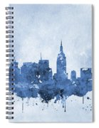 New York Skyline-blue Spiral Notebook