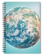 North Pole 3d Render Planet Earth Clouds Spiral Notebook