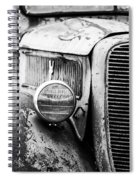Old Farm Ford - Pov 1 Bw Spiral Notebook
