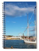 Old Sailing Boats In Helsinki City Harbor Port Finland Spiral Notebook