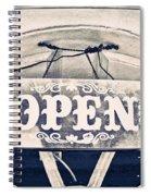 Open Sign Spiral Notebook