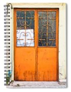Orange Door Spiral Notebook