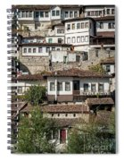Ottoman Architecture View In Historic Berat Old Town Albania Spiral Notebook