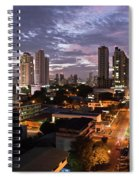 Panama City At Night Spiral Notebook
