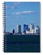 Panoramic View Of Atlantic City, New Jersey Spiral Notebook