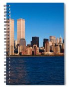 Panoramic View Of Lower Manhattan Spiral Notebook