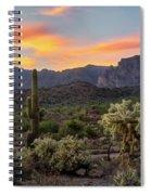 Pastel Desert Skies  Spiral Notebook