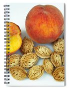 Peaches And Pits Spiral Notebook