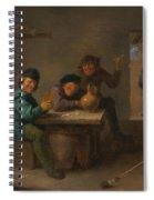 Peasants In A Tavern Spiral Notebook