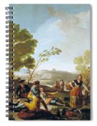Picnic On The Banks Of The Manzanares Spiral Notebook